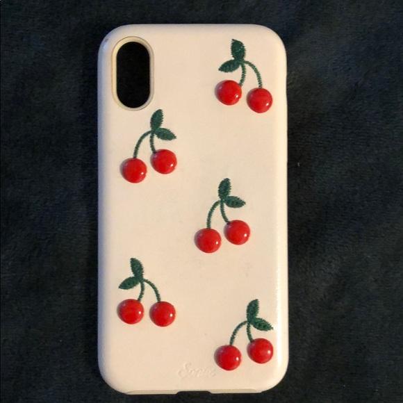 designer fashion 09de8 311e3 Light Pink Cherry IPhone X sonix case